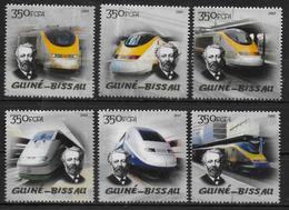 GUINEE BISSAU    N° 1816/21 * *  ( Cote 10.50e ) Trains Jules Verne - Trains