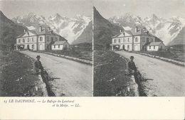 Le Dauphiné, Le Refuge Du Lautaret Et La Meije - Carte Stéréoscopique LL N° 13 Dos Simple, Non Circulée - Stereoscopische Kaarten