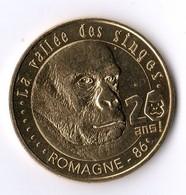 20 Ans Vallée Des Singes Romagne Vienne 86 - Reference 86ROM718 - 2018