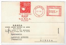 Cartolina Commerciale Milano - Nastri Magnetici Basf S.A.S.E.A. Società Aniline Solventi Ed Affini - Milano