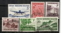 Premiers Timbres Des îles COCOS, Année 1963, Oblitérés 1 ère Qualité. Côte 30,00 Euro - Cocos (Keeling) Islands