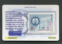 ITALIA 2006 - TESSERA FILATELICA - CONGRESSO INTERNAZIONALE DI MEDICINA DEL LAVORO  - MNH**- 262 - 6. 1946-.. Republik