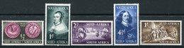 South Africa 1952 Tercentenary Of Landing Of Van Riebeeck Set HM (SG 136-140) - South Africa (...-1961)