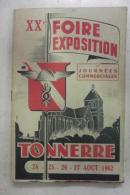 XX° Foire Exposition De Tonnerre 1962 - Bourgogne