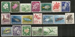Série Complète Nr 26/44 .  Année 1960.  19 Timbres Neufs **   Forte Côte  150,00 Euro - Ile Norfolk