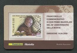 ITALIA 2009 - TESSERA FILATELICA - ANNIVERSARIO MORTE DON PRIMO MAZZOLARI - MNH**- 265 - 6. 1946-.. Republik