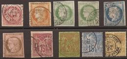 Colonies Générales Joli Lot D'oblitérations De Guadeloupe - Guadeloupe (1884-1947)
