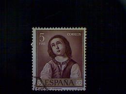Spain, Scott #1103, Used (o), 1962, Artist Series, Zurbaran, Virgin As A Child, 5pts - 1971-80 Oblitérés