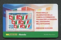 ITALIA 2009 - TESSERA FILATELICA - ANNIVERSARIO ISTITUZIONE CAMERA DI COMMERCIO ITALIA SVIZZERA - MNH**- 266 - 6. 1946-.. Republik