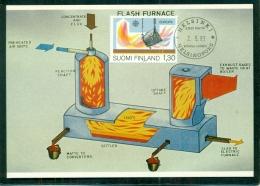 CM-Carte Maximum Card # 1983-FINLANDE-SUOMI # EUROPA # Europa-Cept # Metallurgical Industry ,Flash Smelting Method - Maximum Cards & Covers