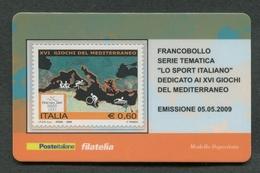 ITALIA 2009 - TESSERA FILATELICA - XVI GIOCHI DEL MEDITERRANEO - MNH**- 267 - 6. 1946-.. Republik