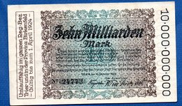 Trier Birkenfeld  -- 10 Milliarden    Mark  -  1/04/1924  -  état SUP - [11] Emissions Locales
