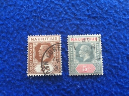 Mauritius: Set Of Stamps From 1912-22 Issue Lightly Hinged & Lightly Canceled - Autres - Afrique