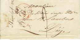 LAC  Du  22/01/1847 De STAVELOT Vers LIEGE H. DESSAIN Imprimeur - Signé BREDA - 1830-1849 (Belgique Indépendante)