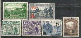 Années 1956-1958-1959,  6 Timbres Neufs **,   Forte Côte  35,00 Euro - Ile Norfolk