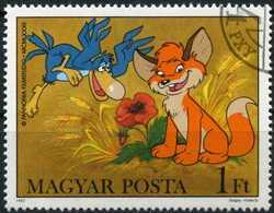 HUNGARY 1982 - Mi. 3580A O, Fox And A Bird | Vuk The Fox Cub | Cartoons - Hungary