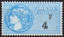 FRANCE - 4 F. Bleu Ciel Neuf TTB - Revenue Stamps
