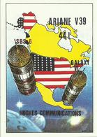 Autocollant Lancement ARIANE V39 Du 12 Octobre 1990 - CENTRE SPATIAL GUYANAIS - ESPACE - Stickers
