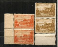Ball Bay Stamps, Neufs/mint **  Paire Se-tenant, Année 1947,    Côte  15,00 Euro - Ile Norfolk