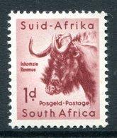 South Africa 1954 Wildlife - Wmk. Springbok - 1d Black Wildebeest MNH (SG 152) - South Africa (...-1961)