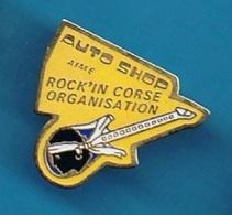 PIN'S //  ** AUTO SHOP / AIME / ROCK'IN CORSE / ORGANISATION // TÊTE DE MAURE ** - Pin's