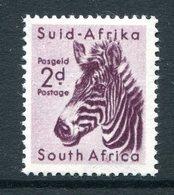 South Africa 1954 Wildlife - Wmk. Springbok - 2d Zebra MNH (SG 154) - South Africa (...-1961)