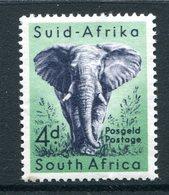 South Africa 1954 Wildlife - Wmk. Springbok - 4d African Elephant LHM (SG 156) - South Africa (...-1961)