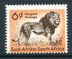 South Africa 1954 Wildlife - Wmk. Springbok - 6d Lion HM (SG 158) - South Africa (...-1961)