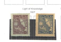 Polonia SP. 1927 Conoscenza  Scott.B 26+27 See Scan On Scott.Page - 1919-1939 Repubblica