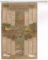 CARTE POSTALE CALENDRIER 1918 - Calendriers
