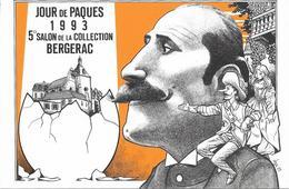 Illustrateur Bernard Veyri Caricature Bergerac Salon De La Collection 1993 Edmond Rostand - Veyri, Bernard