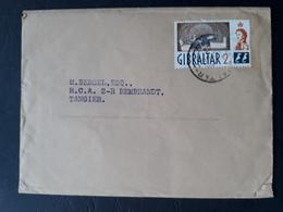UK - Gibraltar - 1963 - Lettre Pour Tanger - B - Gibraltar