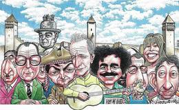 Illustrateur Bernard Veyri Caricature Salon Cahors 2000 - Veyri, Bernard