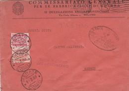 BUSTA VIAGGIATA - COMMISSARIATO GENERALE PER LE FABBRICAZIONE DI GUERRA II DELEGAZIONE INTERPROVINCIALE MILANO - 1900-44 Vittorio Emanuele III