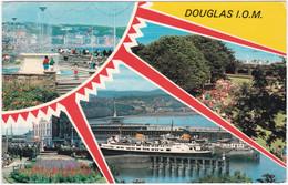 DOUGLAS, ISLE OF MAN MULTIVIEW. FOUNTAIN, VILLA MARINA GARDENS - Isle Of Man