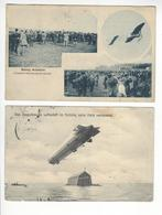 2 CPA AVIATION NANCY + DAS ZEPPELINSCHE LUFTSCHIFF Défaut  /FREE SHIPPING REGISTERED - Aviation