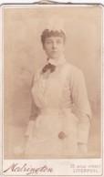 ANTIQUE CDV PHOTO - LADY IN UNIFORM.  LIVERPOOL STUDIO - Photographs