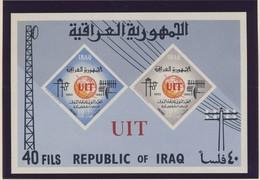 IRAQ 1965 BLOC  UIT NON DENTELE YVERT N°B7 NEUF MNH** - Iraq