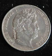 5 Francs 1847 A  IIIE TYPE DOMARD LOUIS PHILIPPE I ROI DES FRANCAIS - J. 5 Franchi