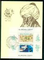 CM-Carte Maximum Card # 1983-Chypre Turc,Turkish Cyprus #  Europa-Cept, CEPT # Piri Reis, Geographer ,map, Skylab - Chypre (Turquie)