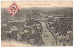 Sur CPA MONTDIDIER Oblitération Sue Semeuse Lignée Oblitération Montdidier R° V° - Voyagé Vers Amiens ROBILLARD - 1877-1920: Semi-moderne Periode