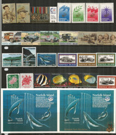 Année Complète 1995,  26 Timbres + 2 B-F Neufs/mint **  Côte   80,00 Euro (inclus B-F Surchargé) - Ile Norfolk