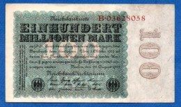 Allemagne  -  100 Millionen   Mark  22/8/1923 - Pick # 107  -  état  TB+ - [ 3] 1918-1933: Weimarrepubliek