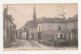 Fondettes.37.Indre Et Loire.Le Centre Du Bourg,le Lavoir Et L'Eglise.1929 - Fondettes
