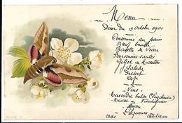 """Menu """" Diner Du 13 Octobre 1901"""" - Menu"""