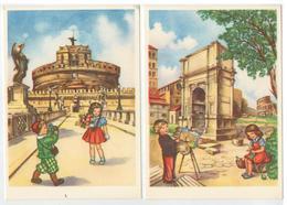 3 Cartoline Roma Da Casa Mamma Domenica Milano Contributo Di Ricostruzione Anno Santo 1950 - Milano
