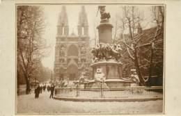 13 - MARSEILLE - Carte Photo Du Monument Des Reformes De Mobiles Sous La Neige En 1914 - Otros