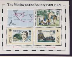 NORFOLK 1989 BLOC REVOLTES DU BOUNTY YVERT N°B12  NEUF MNH** - Ile Norfolk