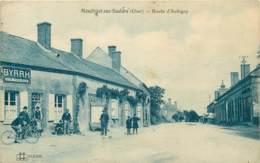 18 - MENETREOL SUR SAULDRE - Route D'Aubigny - Café Animé - France