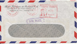 Panama Air Mail Bank Cover With Meter Cancel 11-3-1963 - Panama